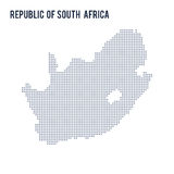Vector dotted map of Republic of South Africa isolated on white background . Stock Photos