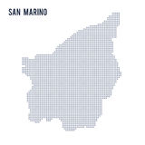 Vector dotted map of San Marino isolated on white background . Stock Photo