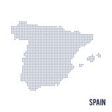 Vector dotted map of Spain isolated on white background . Royalty Free Stock Photos