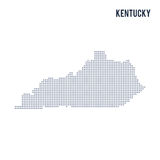 Vector dotted map State of Kentucky isolated on white background . Royalty Free Stock Images