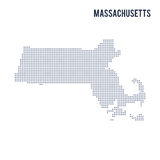 Vector dotted map State of Massachusetts isolated on white background . Stock Image