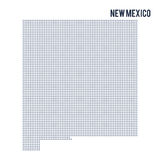 Vector dotted map State of New Mexico isolated on white background . Royalty Free Stock Photos