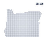 Vector dotted map State of Oregon isolated on white background . Stock Photos