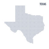 Vector dotted map State of Texas isolated on white background . Royalty Free Stock Images