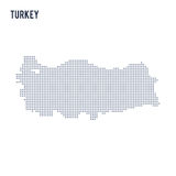 Vector dotted map of Turkey isolated on white background . Royalty Free Stock Image