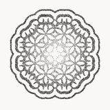 Vector dotted pattern frame or a gravure style ornament. dusty grunge dotted elements on background. Old dusty grunge dotted elements on background stock illustration