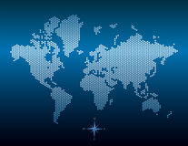 Vector dotted world map Stock Images