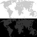 Vector Dotted World Map. Abstract simple map Royalty Free Stock Images