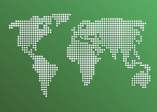 Vector Dotted World Map Royalty Free Stock Images