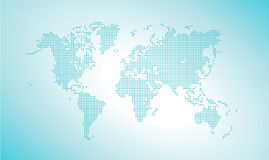 Vector dotted world map Stock Photos