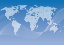 Vector dotted worldmap Royalty Free Stock Image