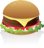 Vector Double Burger Icon. Vector illustration of double burger Stock Image
