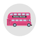 Vector double decker bus england icon Royalty Free Stock Images