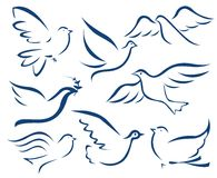Vector dove symbol Royalty Free Stock Photography