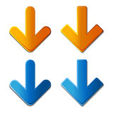 Vector download arrows Royalty Free Stock Photos