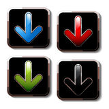 vector download buttons Royalty Free Stock Photos