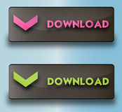Vector download buttons Stock Image