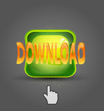 Vector download and cursor Royalty Free Stock Image