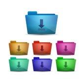 Vector download folder Stock Photos
