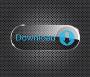 Vector download glass button Royalty Free Stock Photos