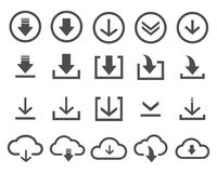 Vector download icon on white background. Download icons set stock vector on white background royalty free illustration