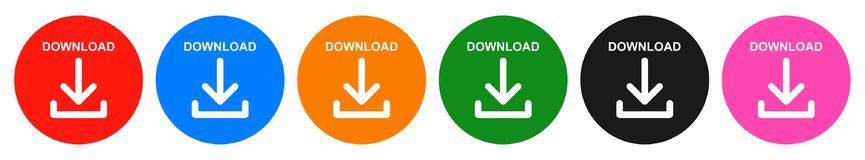 Free Vector Download Round Button Six Color Icon Stock Images - 118045734