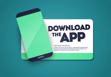 Free Vector Download The App Sticker With Phone And Screenshot Space Royalty Free Stock Photos - 154793318