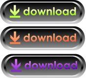 Vector downloadknopen Royalty-vrije Stock Afbeeldingen