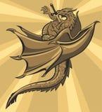 Brown slain Dragon. stock illustration