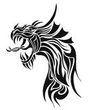 Vector. Dragon. Tattoo Stock Image