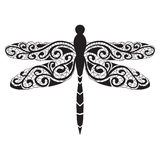 Vector dragonfly icon Royalty Free Stock Photography
