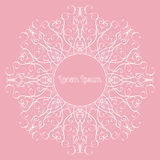 Vector draw freehand frames for spa center, yoga studio Royalty Free Stock Images