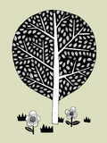 Vector draw tree minimal. This is Vector illustration. It's minimal tree drawing royalty free illustration