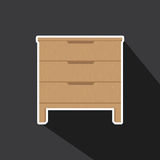 Vector of Drawers Royalty Free Stock Images