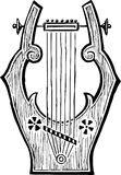 Antique lyre. Vector drawing of the ancient lyre vector illustration