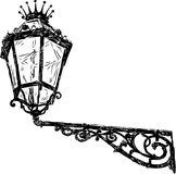 Ancient street lamp. Vector drawing of an ancient streetlight vector illustration