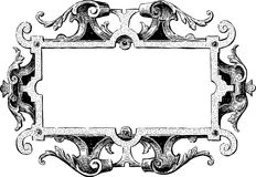 Ancient frame. Vector drawing of an antique decorative frame Royalty Free Stock Photos