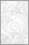 Bali Floral Set. Vector drawing of bali traditional floral set vector illustration
