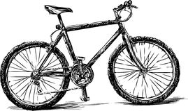 Bike. Vector drawing of the bicycle royalty free illustration