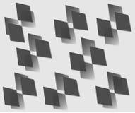 Vector drawing of black diamonds stock illustration