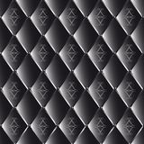 Vector drawing of black quilted leather with geometric pattern Stock Images