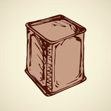 Vector drawing. Box for tea Royalty Free Stock Photo