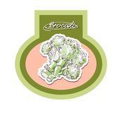 Vector drawing of cabbage set Royalty Free Stock Photo