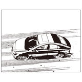 Vector drawing of car Royalty Free Stock Photos