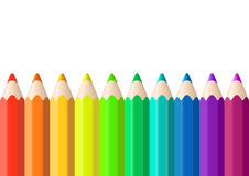 Vector drawing colored pencils Stock Image