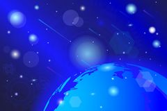 Vector drawing, of a cosmic, abstract colorful background stock illustration