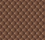 Vector drawing of the dark brown quilted leather Royalty Free Stock Image