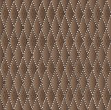 Vector drawing of the dark brown quilted leather Stock Images