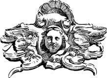 Ancient cartouche Stock Photo