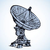 Vector drawing. Dish Antenna Royalty Free Stock Photography